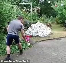 Youtube Backyard Fights Watch Man Blow Up His Backyard When He Uses Petrol To Light Pile