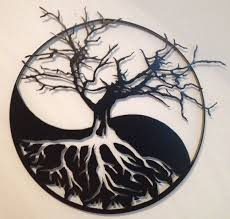 yin yang tree of metal wall by vanmetalarts on etsy yin
