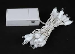 20 light battery operated lights pure white white wire novelty
