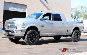 Dodge Ram Cummins 2014 - 20 inch fuel maverick black milled on 2014 dodge ram 2500 2 inch