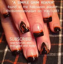 sugar skull nail sugar skull clown halloween nail grim reaper