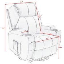 costway lift chair electric power recliner w remote and cup holder