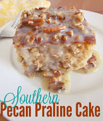 southern pecan praline cake with butter sauce the country cook