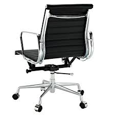 bedroom delectable padded mid back office chair leather