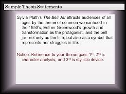 the bell jar themes analysis 1 college recommendation 2 transcendentalism quiz 3 final outline
