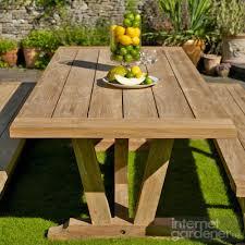 bramblecrest kuta 240cm rectangular teak garden table internet