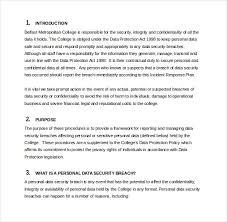 11 incident response plan templates u2013 free sample example