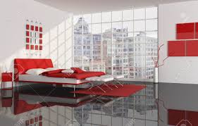 red white and black bedroom rendering the image on background