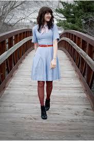 Light Blue Tights Black Sears Shoes Light Blue Vintage Dresses Red Secret Tights