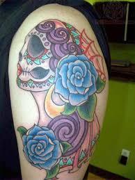 69 graceful roses shoulder tattoos