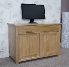 Computer Desk Cabinets Hideaway Opus Oak Hideaway Computer Desk Furniture Plus Online