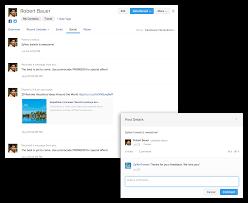 facebook integration zoho contactmanager contact management app