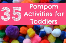 35 pompom activities toddlers simple play ideas