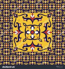 Tile Floor In Spanish by Retro Tiles Floor Flowers Pattern Vector Stock Vector 675713479