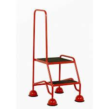 2 Step Handrail Tread Step Single Handrail Anti Slip Treads