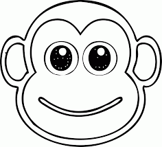 monkey head coloring wecoloringpage coloring