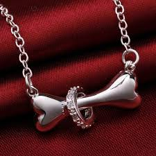 silver chain pendant necklace images Best selling sterling silver 925 dog bone rolo chain pendant jpg