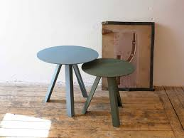 contemporary side table wooden oval rectangular tre by