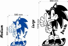 wall decal design sonic the hedgehog wall decals for boys room