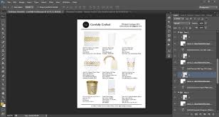 how to make a product catalogue in photoshop linesheet lookbook