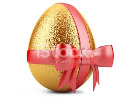 golden easter egg golden easter egg with ribbon stock photos freeimages
