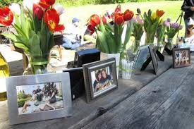 Graduation Party Centerpieces For Tables by House Warming Cookout Outdoor Table Decoration Photograph