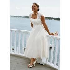 tenue de mariage grande taille grande taille robe de mariage blanche mi longue col bateau dos