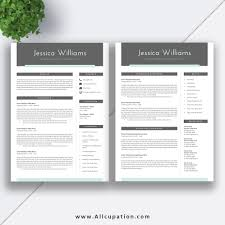 2 page resume template beautiful and creative resume template with cover letter template