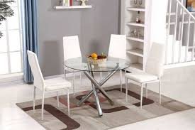 chrome round dining table selina chrome round glass dining table set furniturebox