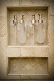 soap u0026 shampoo shower niche with shampoo dispensers showers