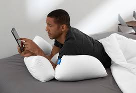 Pillow For Reading In Bed 10 In 1 Flip Pillow Sharper Image