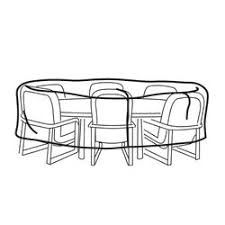 Patio Table Covers Oval by Table U0026 Patio Set Covers