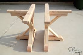 Outdoor Table Legs Restoration Hardware Inspired Dining Table For 110 Shanty 2 Chic