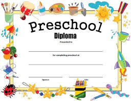 free printable preschool diploma graduation free