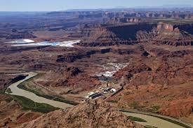 Map Of Moab Utah by Potash Mine Near Moab Utah Image Of The Day