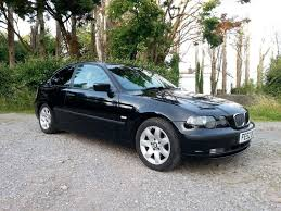 2002 bmw 316 ti se compact black manual 3 door hatchback long