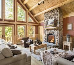 Log Home Interior Design Rediker Log Home Kit Large Log Cabin Homes