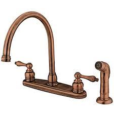 kitchen faucet brass kingston brass kb726alsp kitchen faucet antique copper touch on
