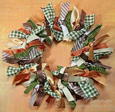 ribbon wreath ribbon wreath for fall carla schauer designs