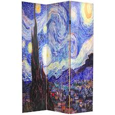 Oriental Room Dividers by 6 Ft Tall Works Of Van Gogh Room Divider Starry Night