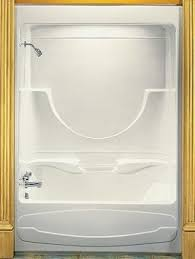 three piece bathtub one piece bathtub shower foter