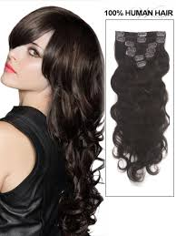 Human Hair Extensions With Clips by Clip In Wavy Remy Human Hair Extensions U2013 Modern Hairstyles In The