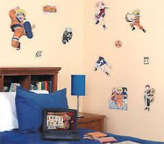 amazon com naruto anime wall stickers and decals boys room