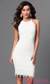 white lace dress knee length white lace dress promgirl