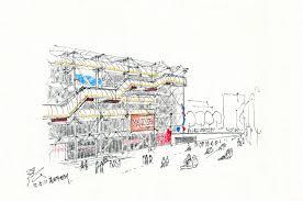 pompidou center designed by renzo piano u0026 richard rogers u0026 peter