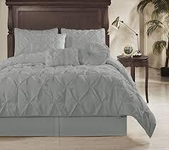 chezmoi collection sydney 7 piece pintuck comforter set king size