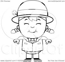 cartoon clipart of a black and white happy child leprechaun