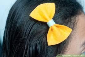 felt hair 3 ways to make a felt hair bow wikihow