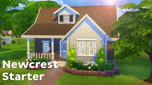 the sims 4 house building newcrest starter youtube