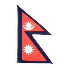 Flag Triangle Flagge Nepals Kaufen 90 X 150 Cm Flaggenplatz At